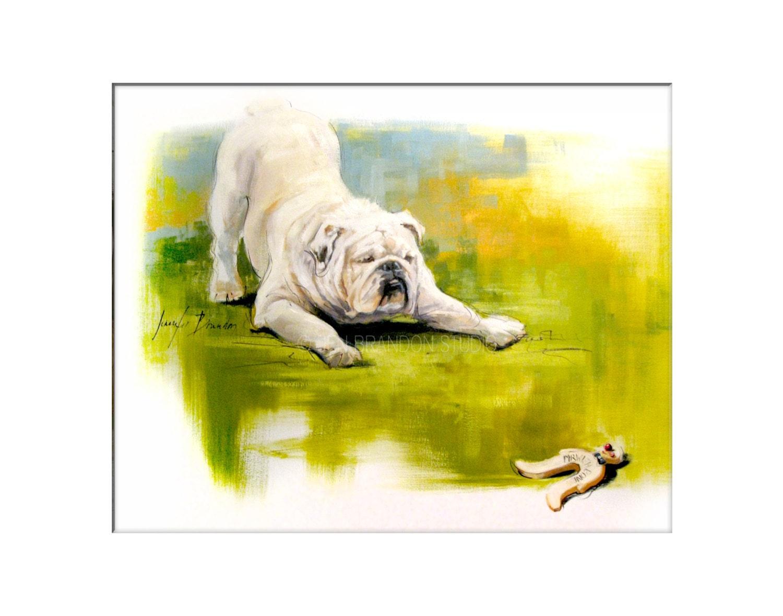 Dog Art Matted Print Of Original Custom Oil Painting