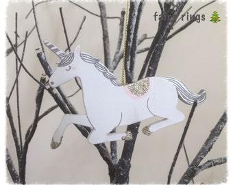 Wooden Unicorn Hanging Decoration