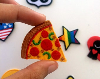 Pizza Iron on, pizza patches, pizza iron on patch for pizza shirt, pizza sweater, denim jacket, clothing patches, monogram tote, dad hat