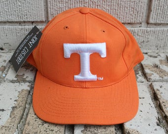 Vintage UNIVERSITY OF TENNESSEE Snapback Hat Adjustable Top of the World tag Officially Licensed Collegiate