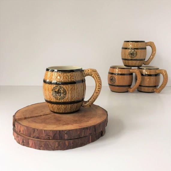 Set Of Four Coffee Mugs Vintage Old Kentucky Malt Mugs