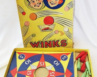Vintage Tiddledy Winks Game 1930s J Pressman Co