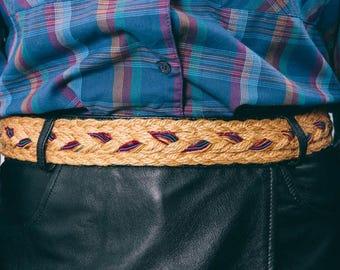 vintage braided rainbow rope belt | one size | the fishy belt