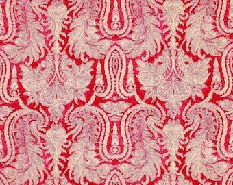 MANUEL CANOVAS GRASSE Batik Artisan Linen Fabric 10 Yards Rose Indien