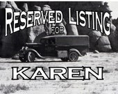 Reserved Listing for Karen