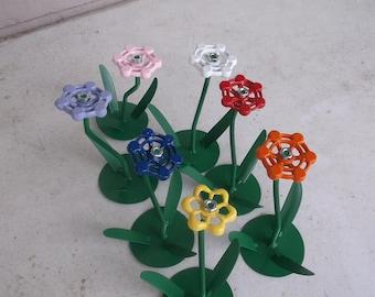 Flower Sculpture floral decor single flower faucet flower