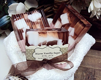 Warm Vanilla Sugar Soap, Handmade Soap, Vegan Soap, Vanilla Sugar Soap, Glycerin Soap, Shea Butter, Bath Soap, Soap Bars,