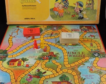The Uncle Wiggily Game by Howard R. Garis, Parker Brothers Vintage Game, 60's - 70's Uncle Wiggily Board Game