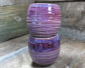 Set of two Stemless Wine Glasses in Lilac