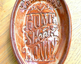 HOME SWEET HOME! Sweet Sentiment Soap Dish - Spoon Rest - Jewelry Catch-all - Key Holder
