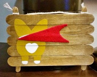 Super Corgi - Wooden Hand-painted Sign