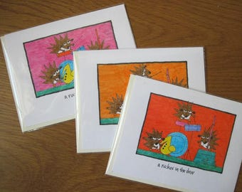 A Ruckus In The Dew -- single cards, set of two, set of three