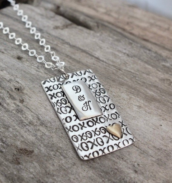 Anniversary Gift for Her / Anniversary Gift for Girlfriend / Anniversary Necklace /Sterling Silver /Anniversary Jewelry / Rectangle Necklace