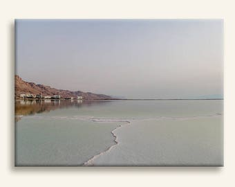 Dead Sea photography print on gallery wrapped canvas - Minimalist photography print - housewarming gift
