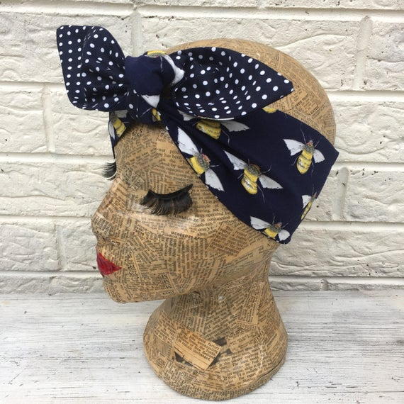 Bumble Bee Headscarf Rockabilly Pinup