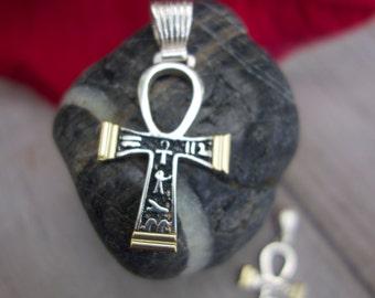 Ankh Cross. Sterling silver Cross of Life.