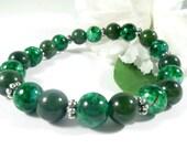 Green Jade Bracelet, Stackable Bracelets, Green Bracelet, Fashion Bracelet Boho Chic Stacking Bracelet, Trending Womens Jewelry Gift for Her