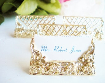 gold place card holders 24k plated wedding name card for set of