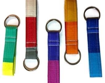 Key Fob Recycled Paragliders, Vegan Fabric Keychain, Recycled Keychain, Eco Friendly Key Fob
