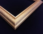 11 x 14 Ready to Ship picture frame ~ Wood grain texture center ~ Gold Mine Metallic Accent ~ 1 1/2 x 3/4 x 3/8 inch Moulding