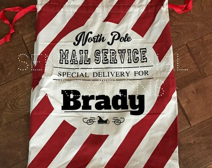 Santa Sack, Present Gift Bag, Santa Bag, Gift Bag, Christmas, Present Bag, Monogrammed Bag, Monogrammed Gift Sack, Gift Sack, North Pole Bag