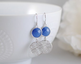 The Annabel Earrings - Blue