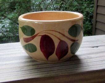 watt pottery red bud teardrop ramekin bean pot, custard cup