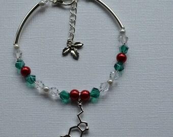 Biolojewelry - Holiday Cheer Serotonin Swarovski Crystal Bracelet