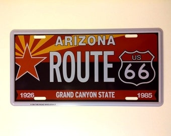 Route 66License Plate