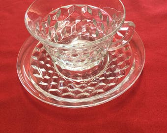 American Glass Cup and Saucer