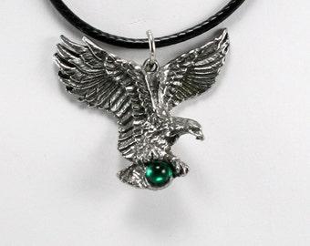 Fine Pewter Eagle Necklace