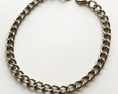 Gunmetal choker necklace chunky chain link choker 24K MAGIC