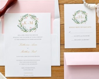 Wedding Invitation Suite - The Laurel Collection - Classic Wedding Invitations - Traditional Wedding Invitations - Spring Wedding