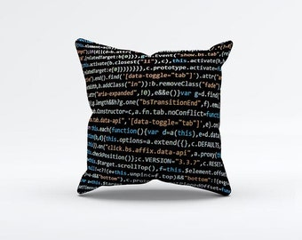Programing Code Pillow Cover 15 x 15 inch, Geek cushion cover, Decorative Pillow Cover, Home decor