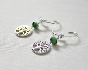 Graduation Gift,For Sister,For Her,Tree of Life,Earring,Jewelry,Ruby Zoisite,30th,40th,50th,Birthday Gift,For Best Friend,For Woman,Gift
