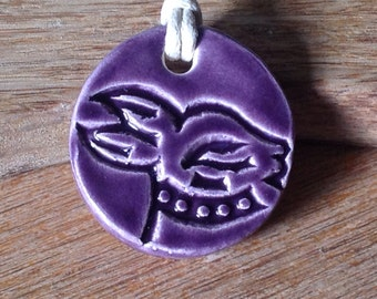 Essential Oil Hare Pendant Purple  Diffuser Pendant Aromatherapy Jewellery  Handmade in UK - buy 2 get 1 free