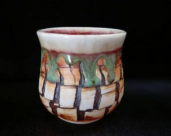 ChingWenArts porcelain Japanese Tea Bowl chawan,yunomi,sake cup,bourbon bowl,# E216