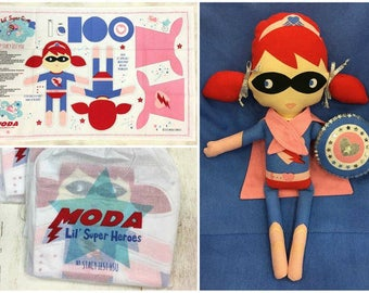Moda-Lil' Super Hero Girl & Boy Panels by Stacy Iset Hsu