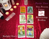 Psychic Tarot 6 Card Love Relationship Reading - Past, Present, Future - Video or Email Reading ( Psychic Messages plus Tarot Reading.)
