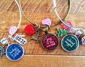buy 2 - get 1 small biz saturday - NEW Christmas plaid trio! bangle bracelet jewlery for her gift