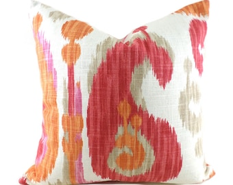 Pillow Covers ANY SIZE Pillow Cover Pillows Braemore Journey Ikat Fruity