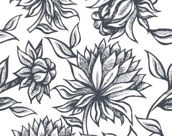 Cameron Floral Pink Fabric by the Yard