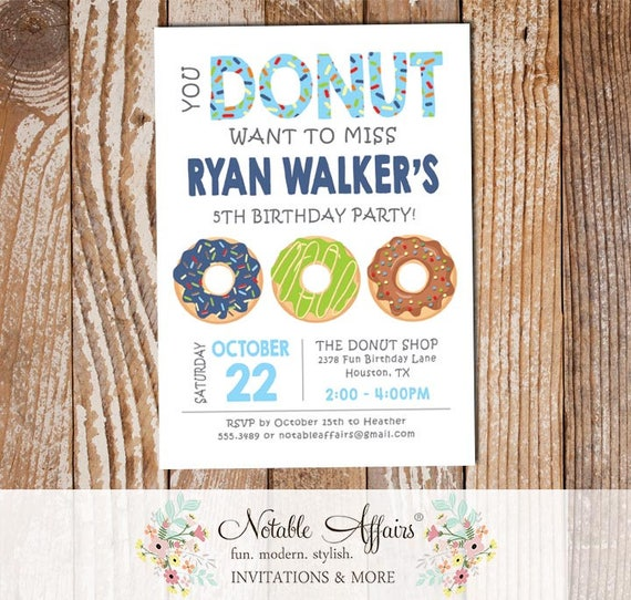 simple boy light blue and navy donuts sprinkles colorful birthday