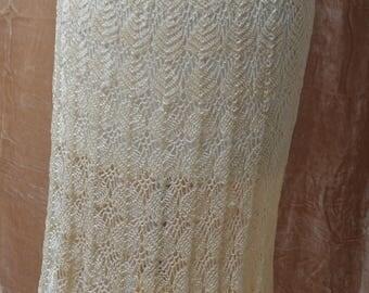 VTG 1930s hand crochet skirt hand made size 8