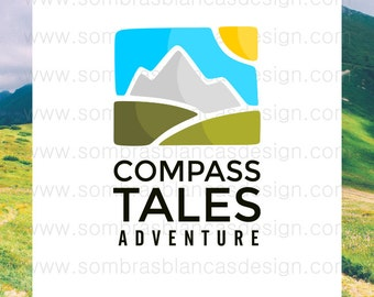 OOAK Premade Logo Design - Glass Landscape - Perfect for an adventure gear shop or a countryside accomodation business