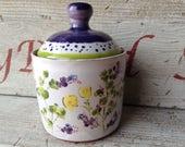 Covered Jar, Spice Jar, Honey Pot, Jam Jar, Lidded jar, Majolica pottery