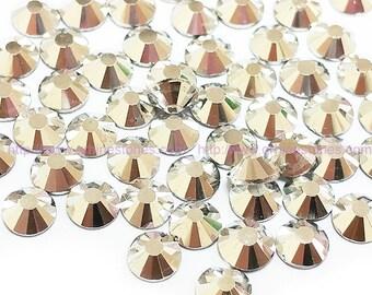 Metallic Silver Rhinestone 144pcs FlatBack Crystal Non Hotfix