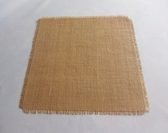 6 Pcs Burlap square burlap overlay burlap table topper wedding table decor rustic table decor bridal shower baby shower rustic table decor