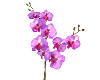 "17"" Artificial Silk Butterfly Phalaenopsis Orchid Flower Spray - Purple"
