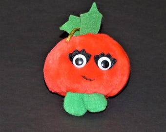 1991 Del Monte Christmas Yumkins Tomato Plush Ornament